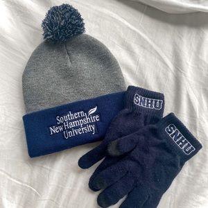 SNHU Pom Hat & Gloves
